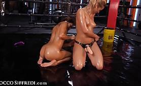 Squirting Sex Fight On The Ring Between Veronica Leal And Cherry Kiss