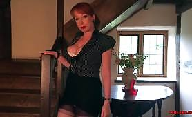Busty mature Red XXX gets off with her favorite toy