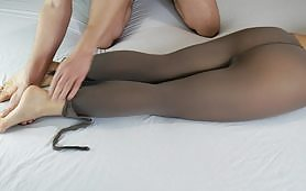 Sensual Legs Massage, MILF In Nylon Pantyhose - Legs Obsession