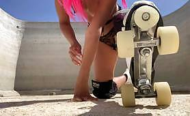 Public hard core ANAL in neighbours property | roller skates and perfect body girl - Ocean Crush